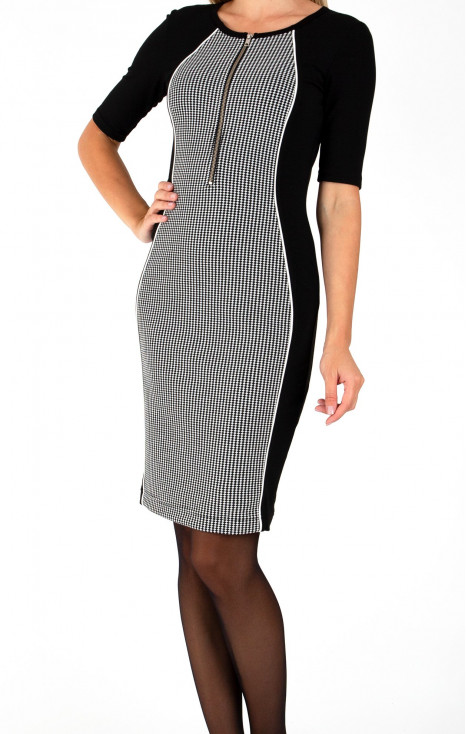 Stylish dress in black and white