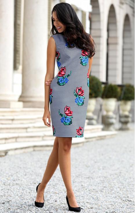 Loose silhouette jacquard dress
