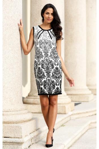 Double face jacquard dress